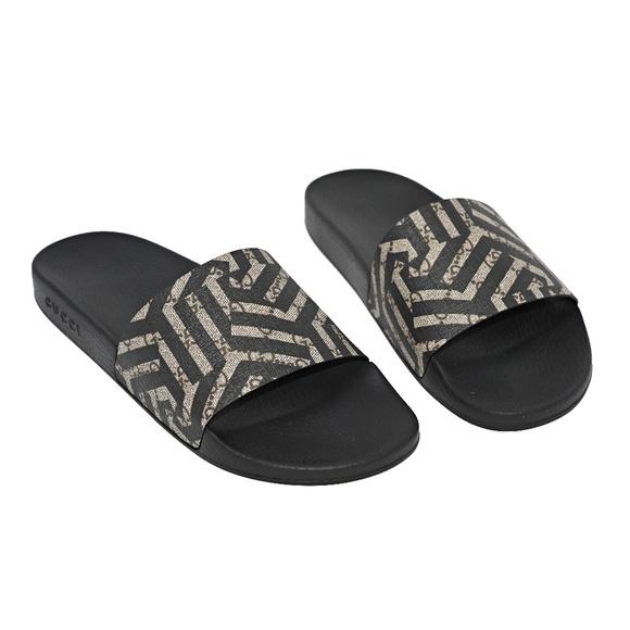 b3ca11084 Gucci Shoes | Ebonybeigeblack Mens Caleido Gg Slides | Poshmark